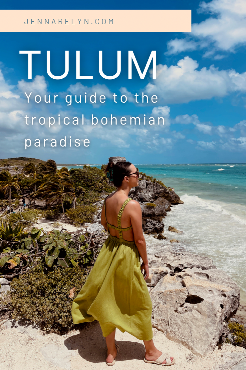 Guide to Tulum ruins, petal and pup dress